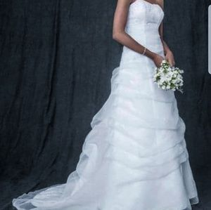 NBW Draped Beaded Wedding Dress